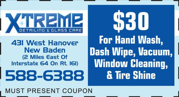 window cleaning and tire shine in new baden il