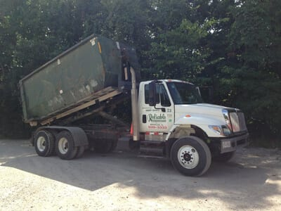 roll-off container truck near monroe county illinois