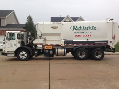 recycling truck in morie county il